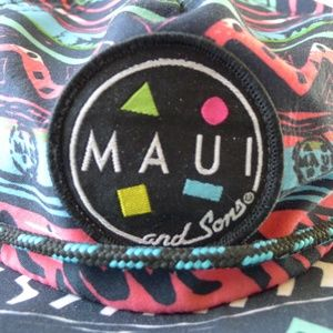 8b10c1a64de Maui and Sons Accessories - MAUI and SONS Surf Logo Retro neon Snapback Hat